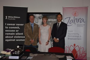 White Ribbon Aust Display Table (1)